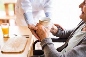 senior resident during home visit